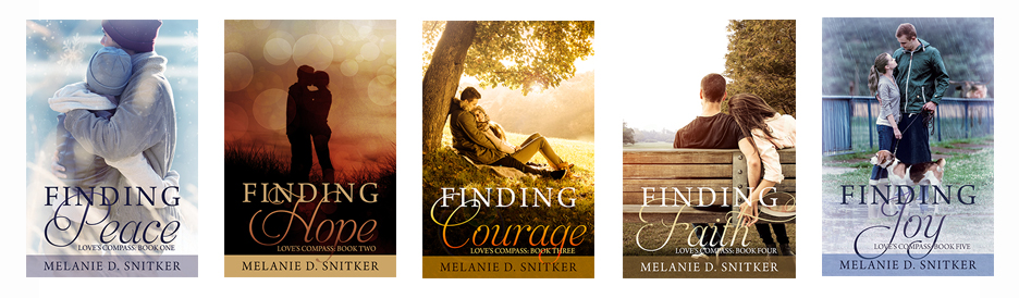 Kristin Holt | Introducing: FINDING JOY by Melanie D. Snitker. Original book cover images of Love's Compass Series by Melanie D. Snitker.