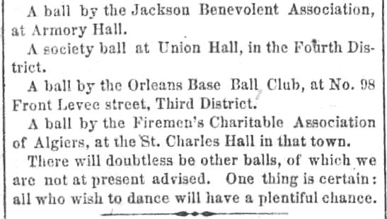 Kristin Holt | Victorian Americans and Mardi Gras. The Balls of Mardi Gras. The New Orleans Crescent, of New Orleans, Louisiana. February 20, 1860. Part 2 of 2.