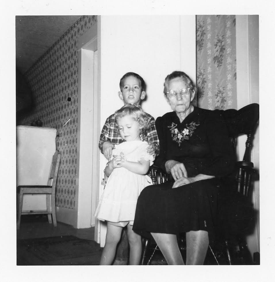 Kristin Holt | Introducing the REAL Sophia Amelia Sorensen...and her cookie jar. Photograph of Sophia Amelia Sorensen Sorenson with Kristin Holt's aunt and uncle, in childhood.