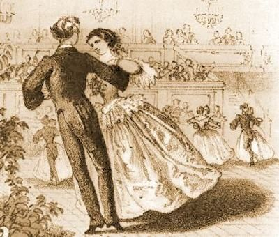Kristin Holt | Victorian Dancing Etiquette. Image of couples dancing, courtesy of Pinterest.