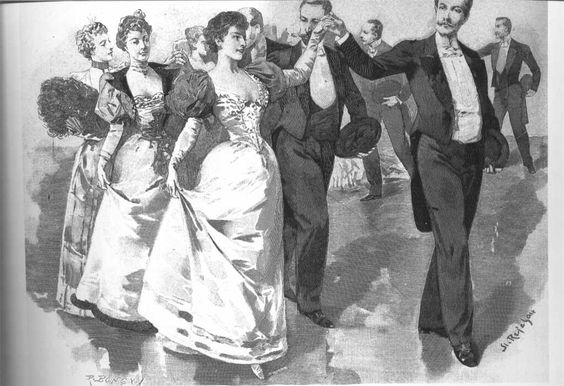 Kristin Holt | Victorian Dancing Etiquette. A good party starts with a poloniase! Image: Pinterest.