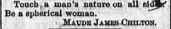 Kristin Holt | How to Attract Men, Part 5. Newspaper article: The Sun and the Erie County Independent of Hamburg, New York, April 6, 1894.