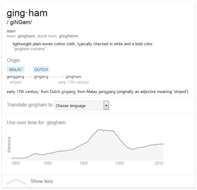 "Kristin Holt | Gingham? Why gingham? Definition of ""gingham,"" courtesy of Google."