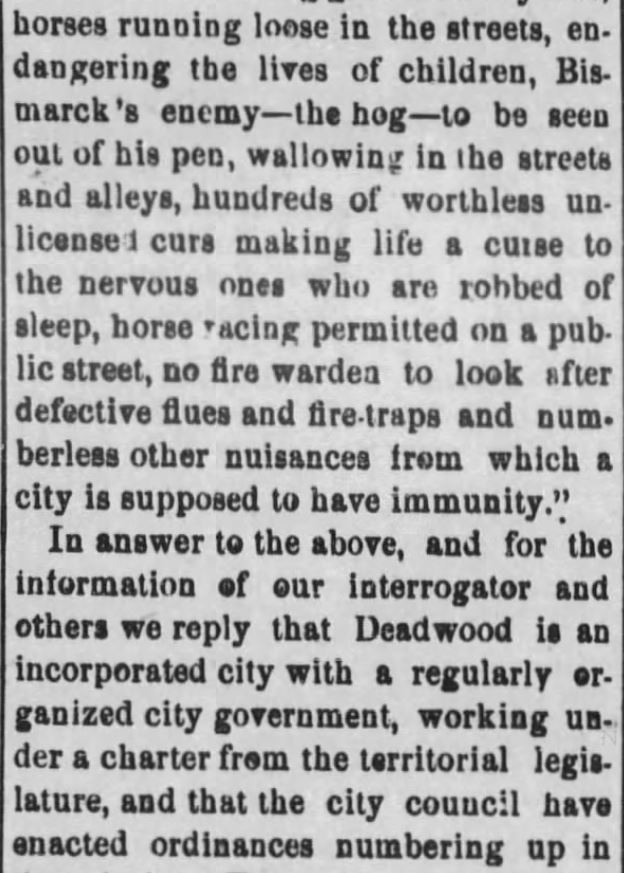 "Kristin Holt | ""Nineteenth Century Problems"". The Black Hills Daily Times of Deadwood, South Dakota, May 22, 1884. Part 2."