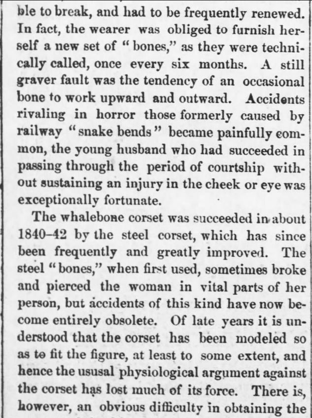 "Kristin Holt | Corsets: Damaging Woman's Intelligence (1880). ""Woman's Brain.--How it is Being Deadened and Destroyed by Fashion, with Dr. Richardson."" Reported in Kansas Farmer of Topeka, Kansas on May 5, 1880. Part 3."