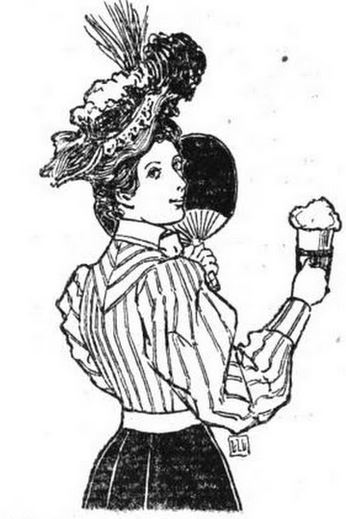 Kristin Holt | An 1890s girl with soda. The Spatula Soda WAter Guide and Book of Formulas, 1901.