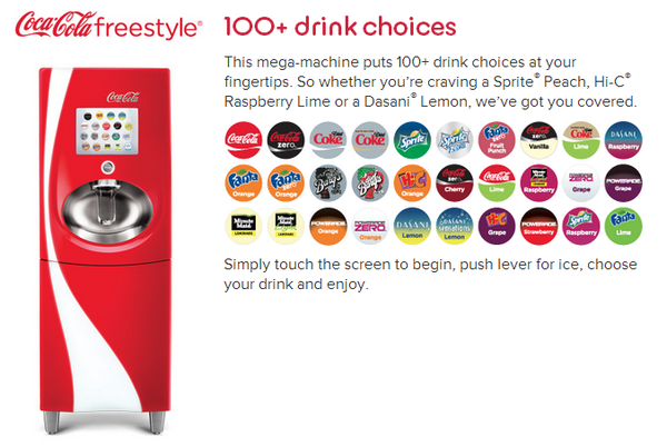Kristin Holt | The Victorian-era Soda Fountain. Image: Coca-Cola Freestyle Machine Ad. Essentailly a customer-operated Soda Fountain, 21st-century style.