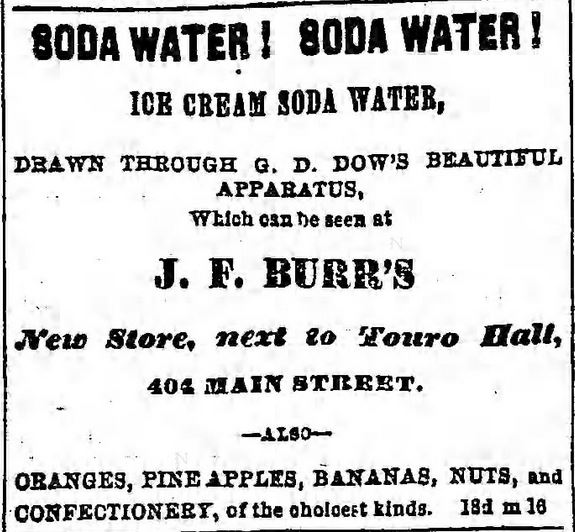 Kristin Holt | Hartford has Dow's Ice Cream Soda Machine! Published in Hartford Courant of Hartford, Connecticut on June 4, 1864.