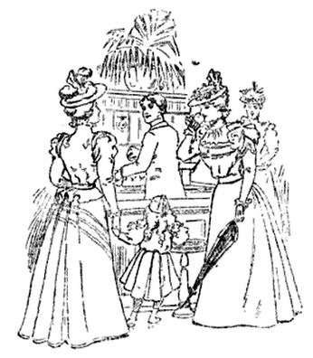 "Kristin Holt | Illustration: ""Ladies at the Soda Fountain"" From The Spatula Soda Water Guide and book of Formulas for Soda Water dispensers, 1901."