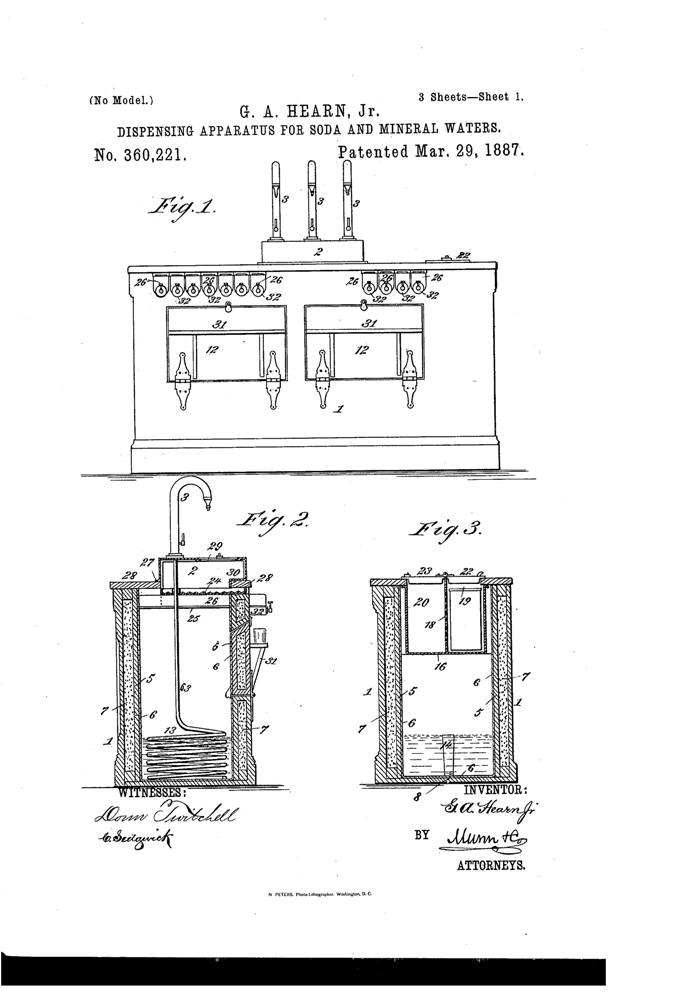 Kristin Holt | The Victorian-era Soda Fountain. US Patent No. 655782-0 for Soda Water Dispensing Apparatus, 1900. Image: Google. 3 of 3.