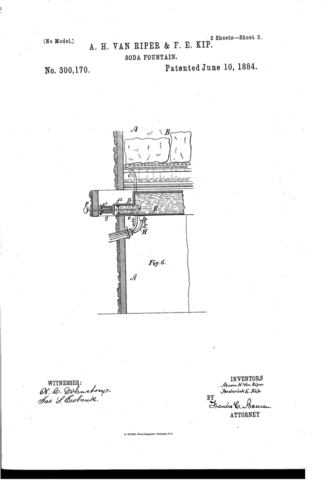 Kristin Holt | The Victorian-era Soda Fountain. Van Riper Patent, 1884, Soda Fountain. Image: Google. 2 of 2.