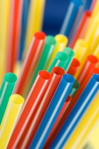 Kristin Holt | photograph of multi-colored plastic drinking straws.
