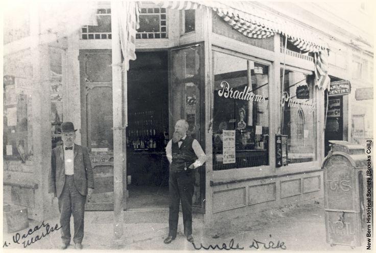 Kristin Holt   New at the Soda Fountain: Pepsi-Cola! Vintage photograph of Bradham's Pharmacy, circa 1900. Image courtesy of Pinterest.