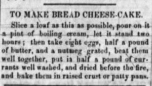 Kristin Holt | To Make Bread Cheese-Cake from an 1853 American Newspaper.