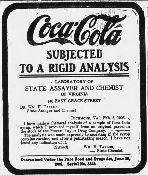 Kristin Holt | Cocaine in Victorian Coca-Cola: Going... Going... Gone? Coca-Cola subjected to a rigid analysis. Daily Arkansas Gazette of Little Rock, Arkansas, February 27, 1907.