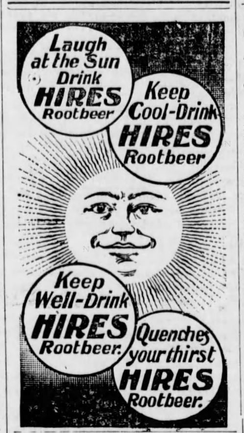 Kristin Holt | The Victorian Root Beer War. Hires Root Beer Ad, illustrated. Published in the Manhattan Mercury of Manhattan, Kansas, June 2, 1897.