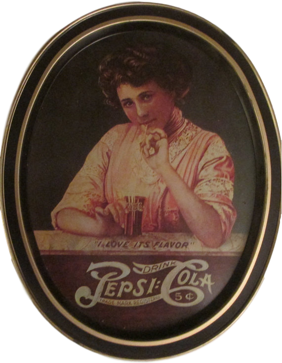 Kristin Holt | New at the Soda Fountain: Pepsi-Cola! Vintage Pepsi-Cola image on a tray, for sale at etsy.com (see link).
