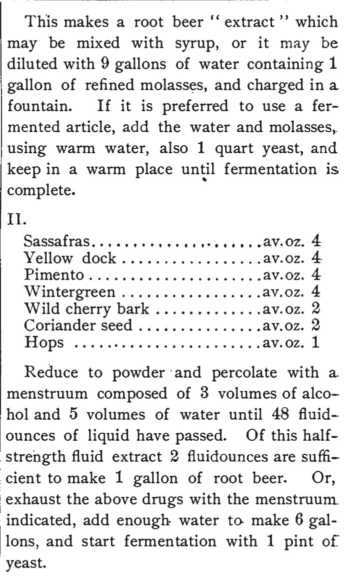 Kristin Holt | The Victorian Root Beer War. Root Beer Recipe from The Standard Formulary: A Collection of Nearly Five Thousand Formulas, 1900, pg. 395. Part 2.