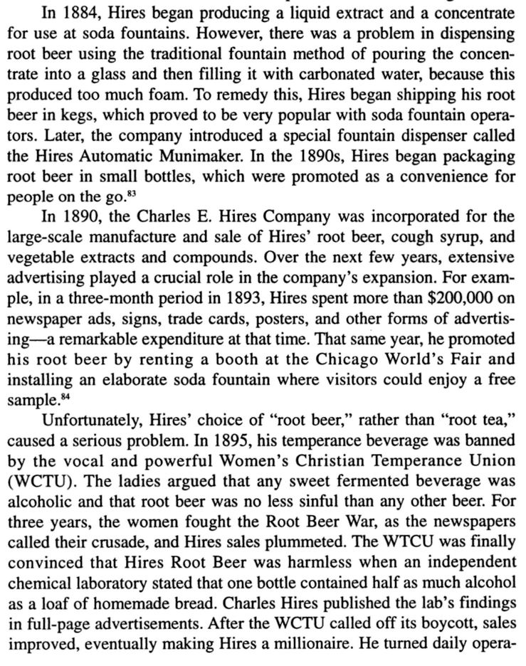 Kristin Holt | The Victorian Root Beer War. Part 1 of quote from Sundae Best--A History of Soda Fountains by Anne Cooper Funderburg.