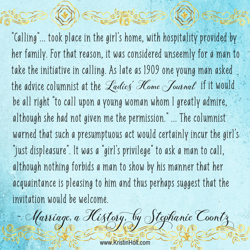 "Kristin Holt | Common Details of Western Historical Romance that are Historikcally Incorrect, Part 1. Quote regarding ""Calling"" from MARRIAGE, A HISTORY by Stephanie Coontz."