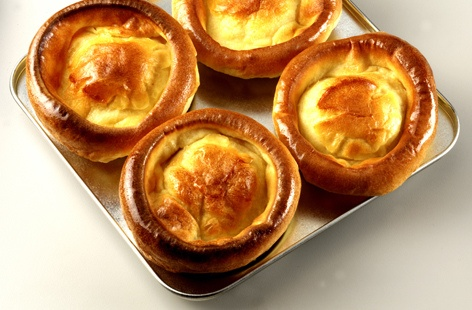 Kristin Holt | Victorian Fare: Yorkshire Pudding. Photograph of traditional Yorkshire Pudding. Image courtesy of realfood.com.