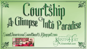 Kristin Holt | Courtship - A Glimpse Into Paradise. Related to Soda Fountain: 19th Century Courtship.