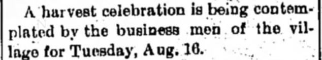 """Kristin Holt   Victorian America's Harvest Celebrations. From The Daily Chronicle of Centralia, Washington on August 3, 1898: """"A harvest celebration is being contemplated by the business men of the village for Tuesday, Aug. 16."""""""