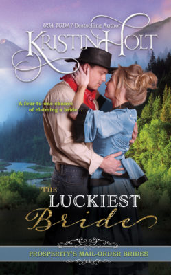 Book Cover Image: The Luckiest Bride by USA Today Bestsellign Author Kristin Holt