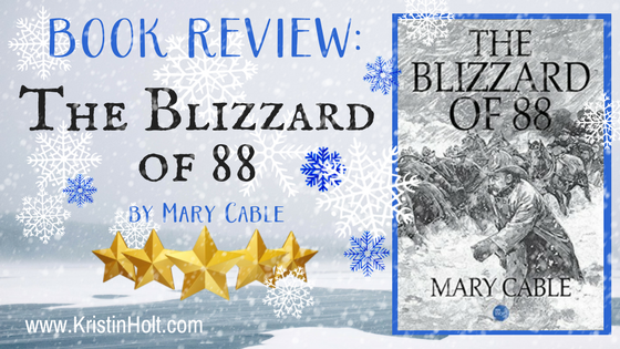 BOOK REVIEW: The Blizzard of 88 by Mary Cable (kindle edition, 2017)