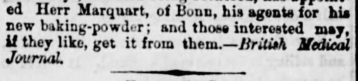 Kristin Holt | Victorian Baking: Saleratus, Baking Soda, and Salsoda. How and Why Baking Powder is Made, published in <em>The Ottawa Free Trader</em> of Ottawa, Illinois, on June 19, <strong>1869</strong>. Part 3 of 3.