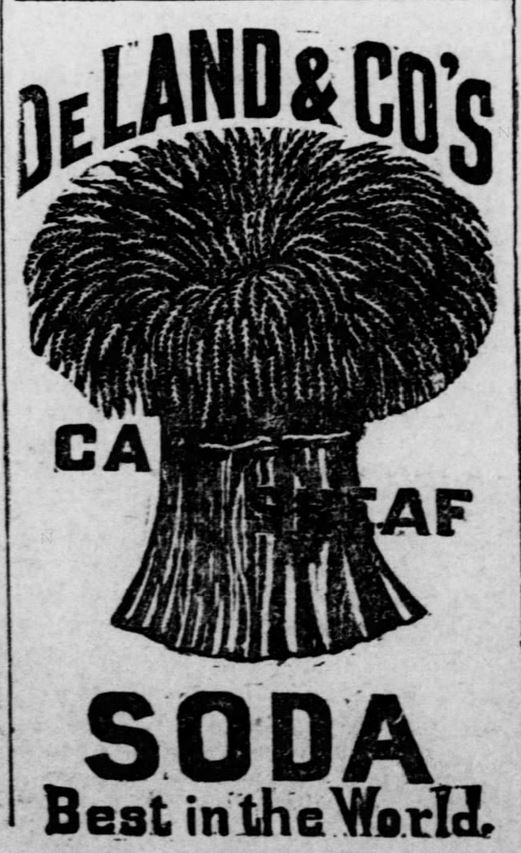 Kristin Holt | Victorian Baking: Saleratus, Baking Soda, and Salsoda. Advertisement for <strong>DeLand &amp; Co's Cut Sheaf Soda</strong>, printed in <em>The Osage County Chronicle</em> of Burlingame, Kansas on January 21, <strong>1886</strong>.