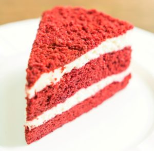 Kristin Holt | Victorian Baking: Devil's Food Cake ~ photograph of contemporary Red Velvet Cake. Image copyright by Shiraphol (@mrsiraphol), freepik.com. Image used with paid premium subscription.