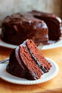 Kristin Holt | Victorian Baking: Devil's Food Cake -- Photograph of Devil's Food Cake with chocolate icing. Pinterest.