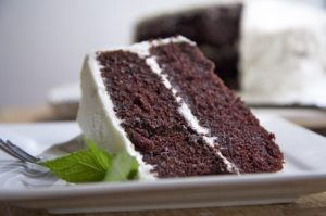 "Kristin Holt | Victorian Baking: Devil's Food Cake ~ Photograph of White Frosted Devil's Food Cake"". Pinterest."