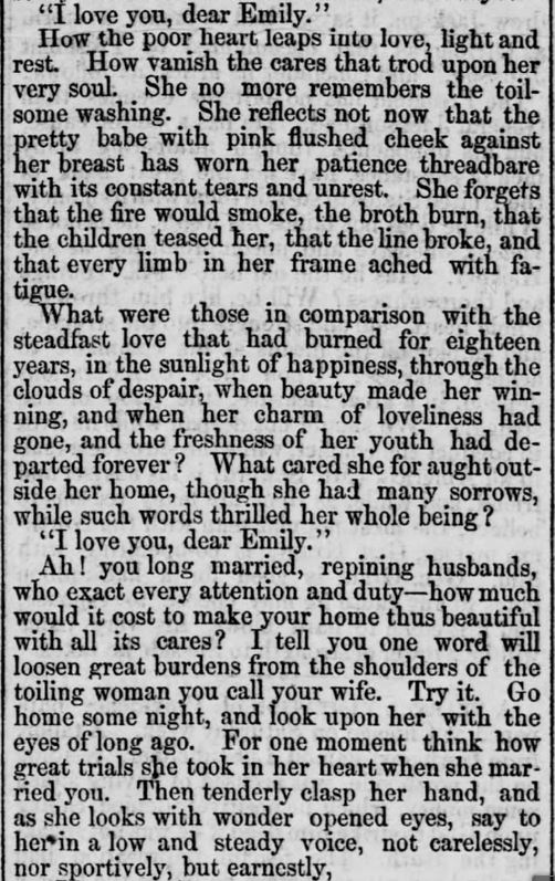 """Kristin Holt   Victorians Say """"I Love You,"""" from Straunton Spectator of Straunton, Virginia on September 25, 1866. Part 2 of 3."""