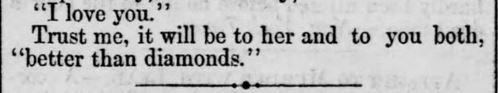 """Kristin Holt   Victorians Say """"I Love You,"""" from Straunton Spectator of Straunton, Virginia on September 25, 1866. Part 3 of 3."""