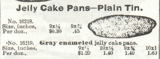Kristin Holt | Victorian Cake: Tins, Pans, Moulds. Jelly Cake Pans of Plain Tin sold in 1897 Sears, Roebuck & Co. Catalogue No. 104.