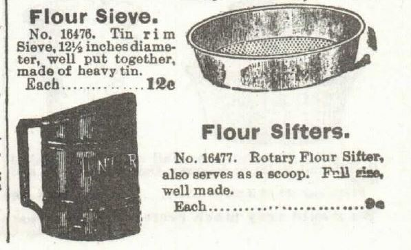 Kristin Holt | Victorian Cooking: The Sifter ~ An American Victorian Invention? Sieve and Sifters for sale in the 1897 Sears Catalogue.