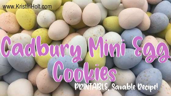 Cadbury Mini Egg Cookies from Author Kristin Holt: printable, savable, shareable