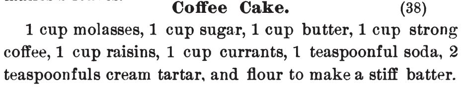 Kristin Holt | Vintage Coffee Cake. Recipe for coffee cake from Three Hundred Tested Recipes, 2nd Edition, published 1895.