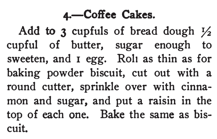 Kristin Holt | Vintage Coffee Cake. Recipe from 365 Cakes and cookies, 1904.