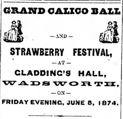Kristin Holt | Calico Balls: The Fashionable Thing of the Late 19th Century. Grand Calico Ball and Strawberry Festival, Nevado State Journal of Reno, Nevada on May 29, 1874.