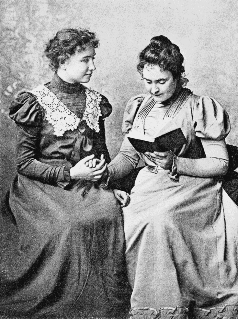 Kristin Holt | Victorian Professional Women do not possessthe brain power to succeed. Photograph of Helen Keller, 1889, with lifelong companion and teacher Anne Sullivan.