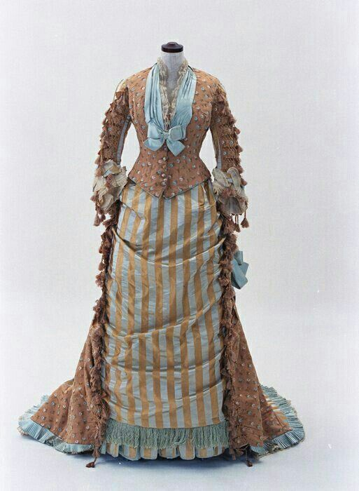 Kristin Holt | Victorian Ladies Wore Costumes--Every Day. Photograph of a bustle gown (two-piece).