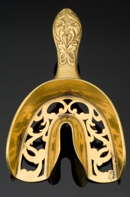 Kristin Holt | Late Victorian Dentistry: Ultra Modern! Photograph of Dental Impression Tray, France, 1830-1850, bronze.