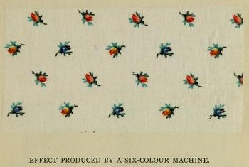 Kristin Holt | Victorian Calico Fabric--More Than Little Flowery Patterns. Photo: sample of calico printed with a six-colour machine by Walter Crum & Co., 1878.
