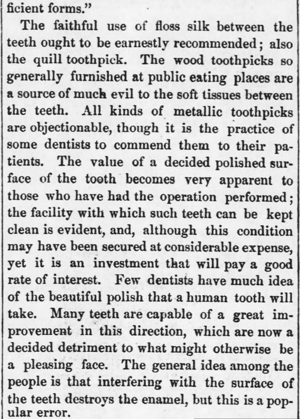 "Kristin Holt | Late Victorian Dentistry: Ultra Modern! Part 2 of 2: ""Keeping the Teeth Clean."" Publisihed in Kansas Farmer of Topeka, Kansas on May 5, 1880."