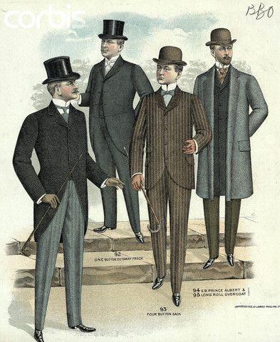 Kristin Holt | The Victorian Man's Suit of Clothes. Vintage Image: 1890 Men's Fashion Plate.