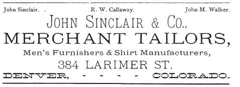 Kristin Holt | The Victorian Man's Suit of Clothes. Merchant Tailors advertise in a Denver cookbook published in 1883.