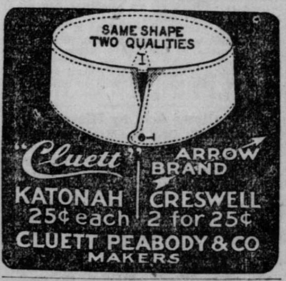 Kristin Holt   Victorian Collars and Cuffs (for men). Arrow Brand Collar Advertisement: The San Francisco Call, San Francisco, CA. 22 December 1900.